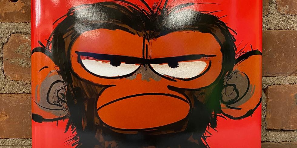 Brushes & Books - Grumpy Monkey
