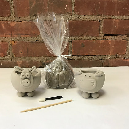 """To Go Kit"" - Clay - Hippo Pinch Pot"