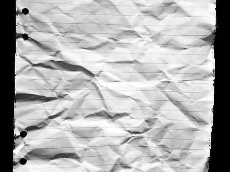 Som ett skrynkligt papper
