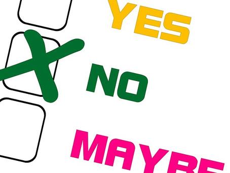 Konsten att säga nej