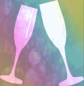 Pink champagne = positiv feedback
