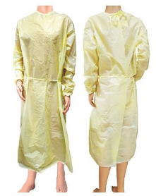 Protective Procedure Gown Yellow NonSterile AAMI Level 1