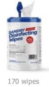 SaniDry Disinfecting Wipe 12pcs/CS - 175 wipes