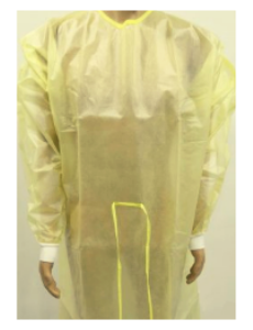 Protective Procedure Gown Yellow NonSterile AAMI Level 2
