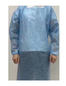 Over-the-Head Protective Procedure Gown Blue AAMI Level 2
