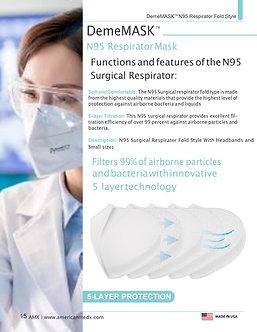 The DemeTECH N95 Respirator Fold Style
