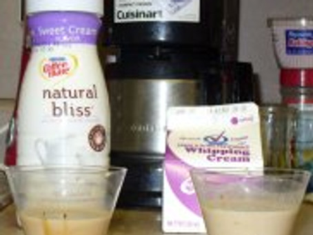 Taste Test: Coffee-mate's Natural Bliss Coffee Creamer Verses Whipping Cream