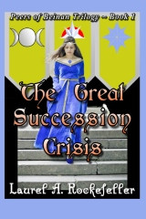 Cover art for The Great Succession Crisis, 1st edition paperback as published in September, 2012.  Thanks to constructive criticism from reviewers, this cover art changed for the revised edition.