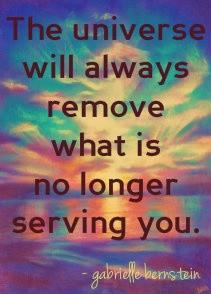 the universe will remove