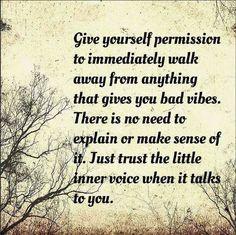 permission to walk away
