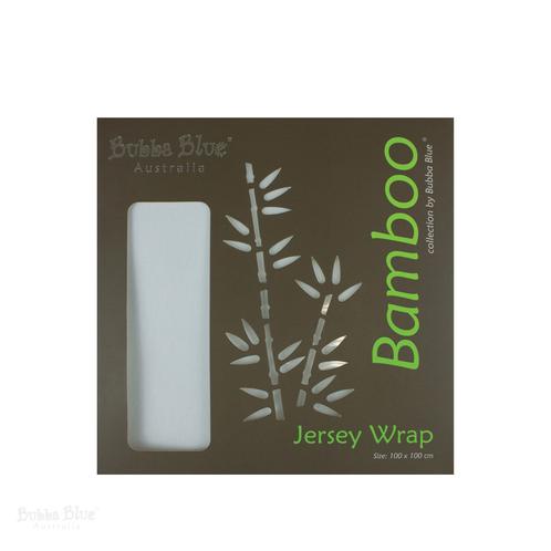 Bamboo White 2pk Stretch Swaddle Wraps Bubba Blue