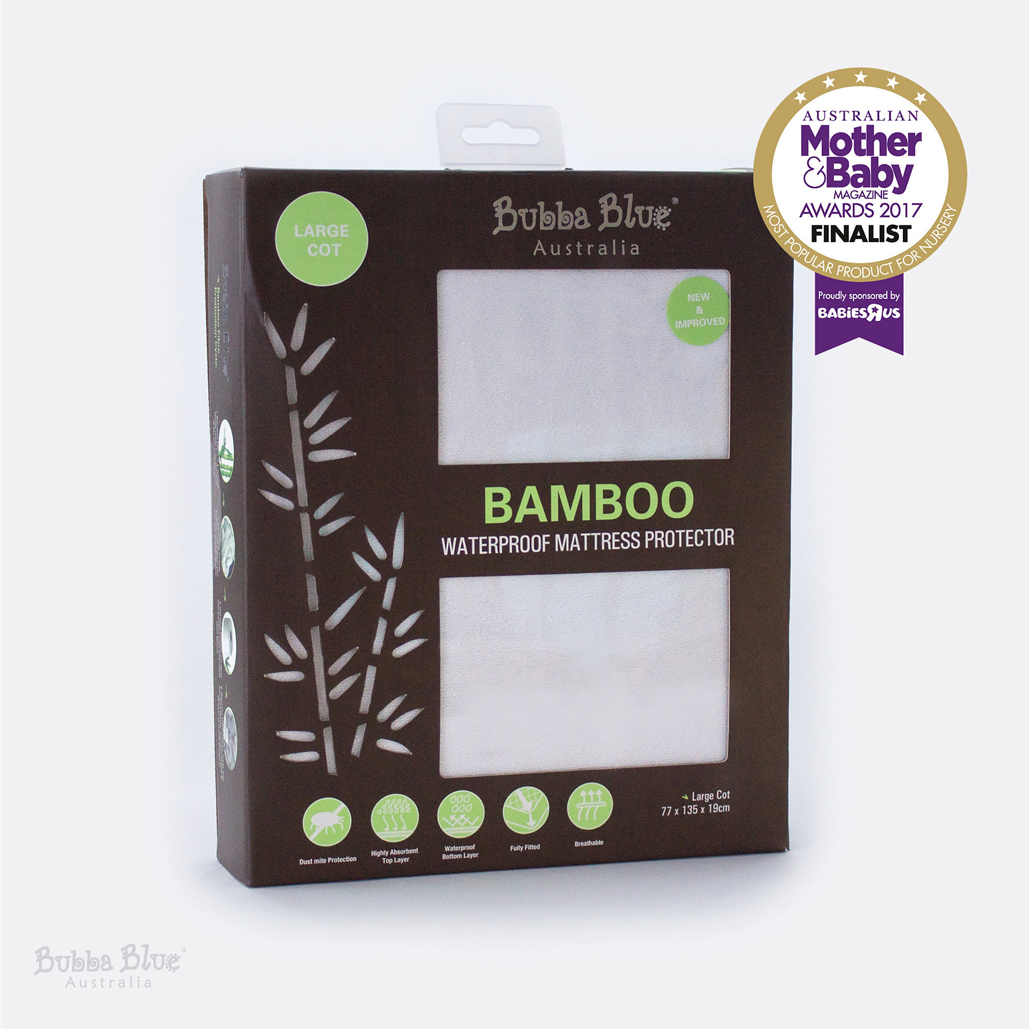 You and your baby can rest easy with our Bamboo-covered fitted Waterproof Mattress  Protector range. The waterproof underlay stops leakages to keep your ...