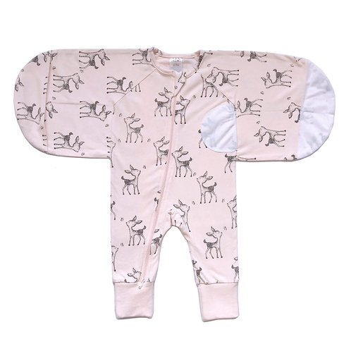 'BUY 1 GET 1 FREE' 0.5 TOG Swaddle Suit - Deer