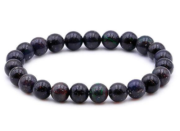 Opale Noire  A  Perles 8mm