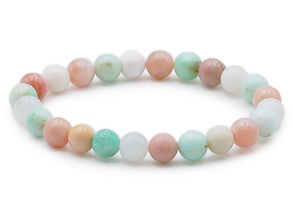 Opale Rose & Chrysoprase A+ Perles 8mm