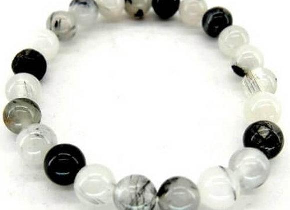 Tourmaline Quartz Perles 8mm