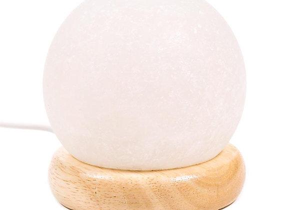 Mini lampe sphère sel blanche USB + LED multi