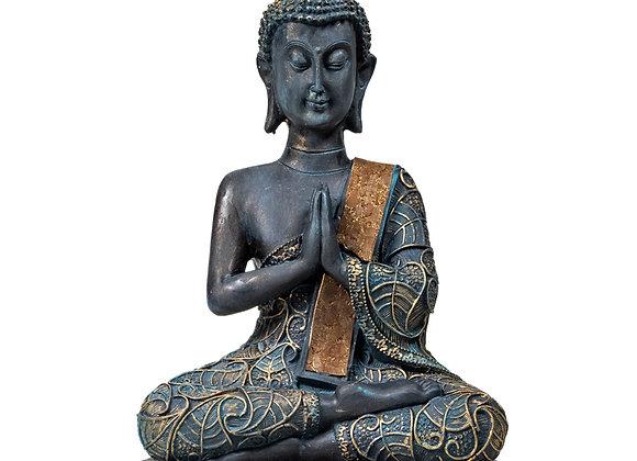 Bouddha namasté Thailande finitions antiques