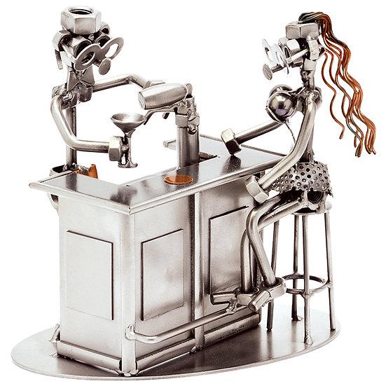 Barman et son client