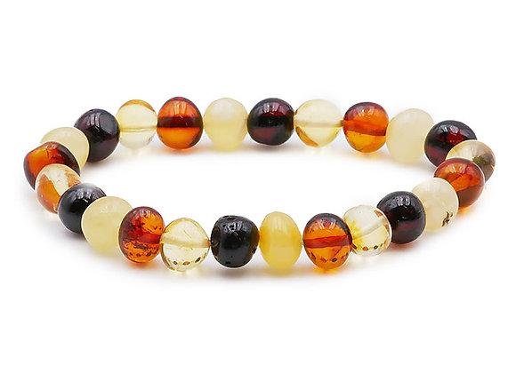 Ambre multicolore A Perles 8mm