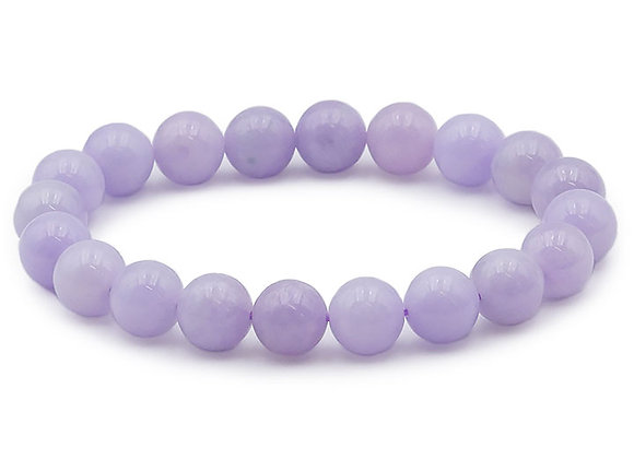 Jade Violet de Birmanie Perles 8mm