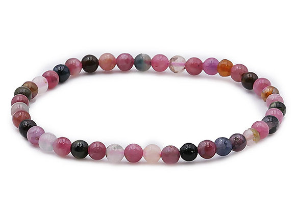 Tourmaline Multicolore perles 4mm