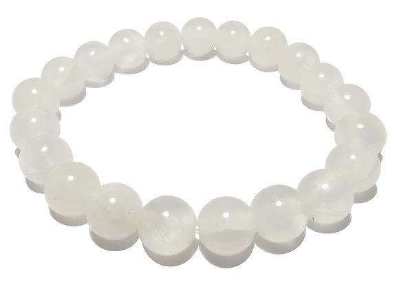 Sélénite 'AAA' perles 8mm