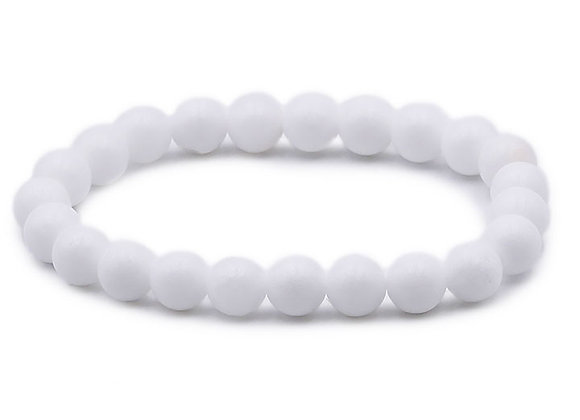 Agate Blanche A Perles 8mm