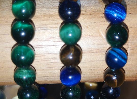 Œil de Tigre Mix perles 8mm