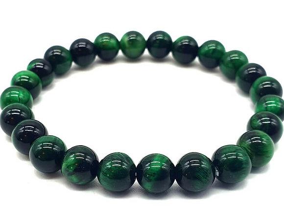 Oeil de Tigre Vert perles 8mm
