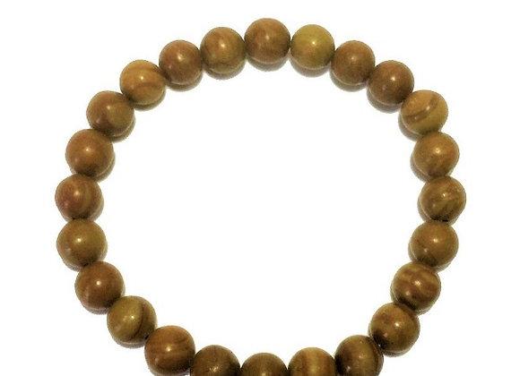 Bois Fossilisé perles 8mm