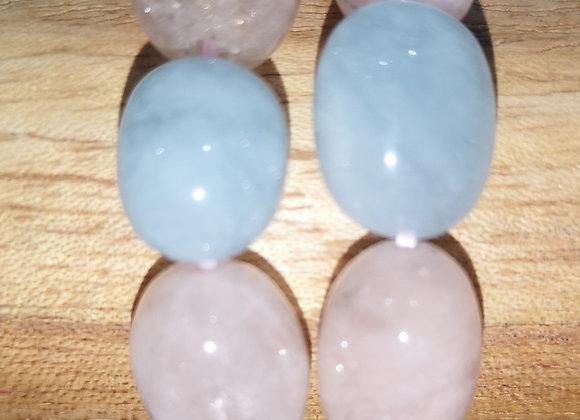 Morganite perles Nuggets