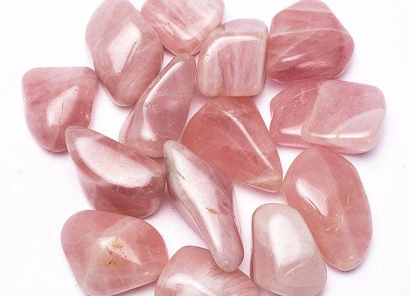 Quartz rose clair pierres polies