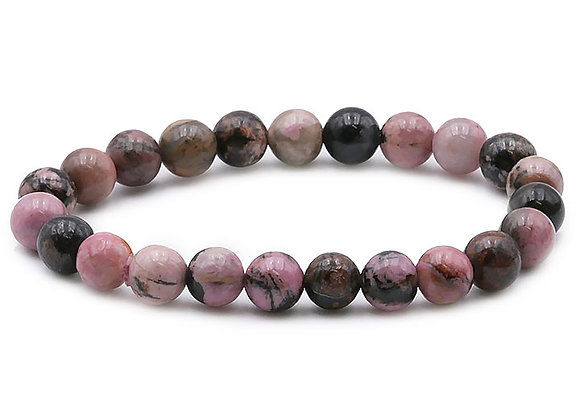 Rhodonite Madagascar AB Perles 8mm