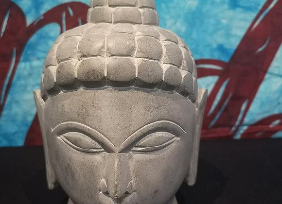 Tête de Bouddha en pierre