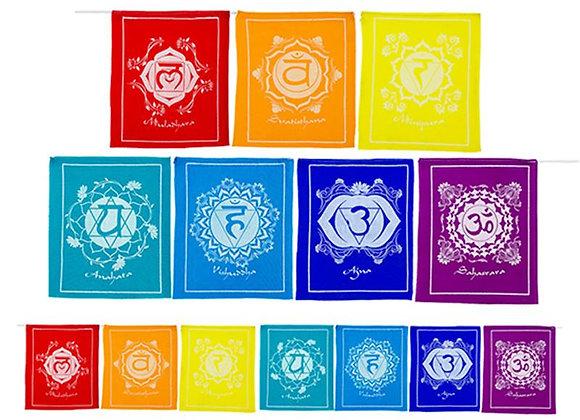 Drapeaux de prière Chakra