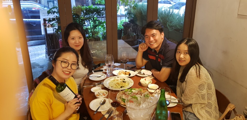 2017.07.10 Dinner with lab members