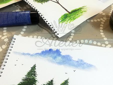 Ζωγραφίζουμε πολλά δέντρα...