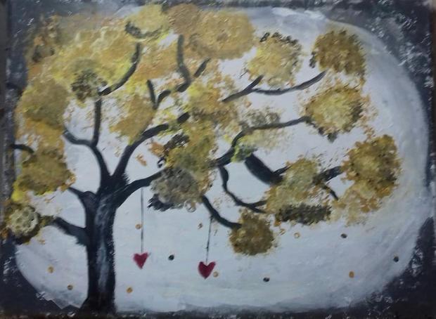 Δέντρο με καρδιές