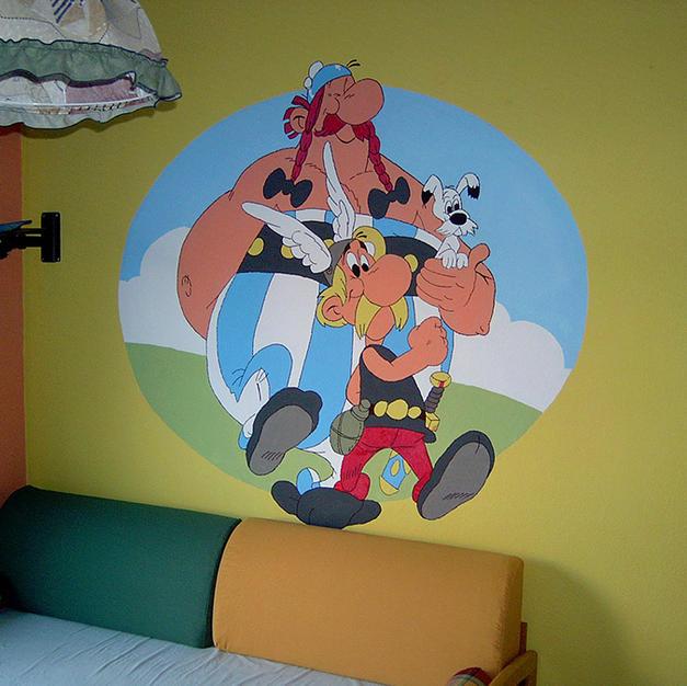 Αστερίξ & Οβελίξ σε παιδικό δωμάτιο 160x160cm