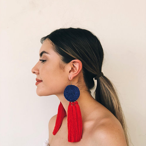 Azul Rey with Red Tassels