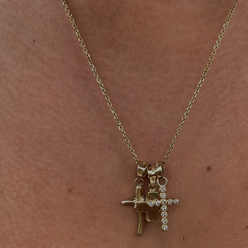 Cadenita Cruces Mini