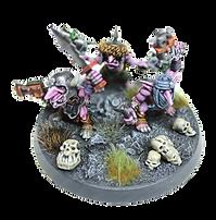 Miniatuur laten schilderen bij Pink Orc Studios. Dit zijn Gretchin en Grot.