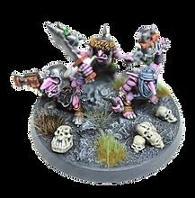 Pink orcs. Schilder opdracht om deze miniaturen te laten schilderen.