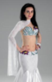white belly dance costume makari dreams