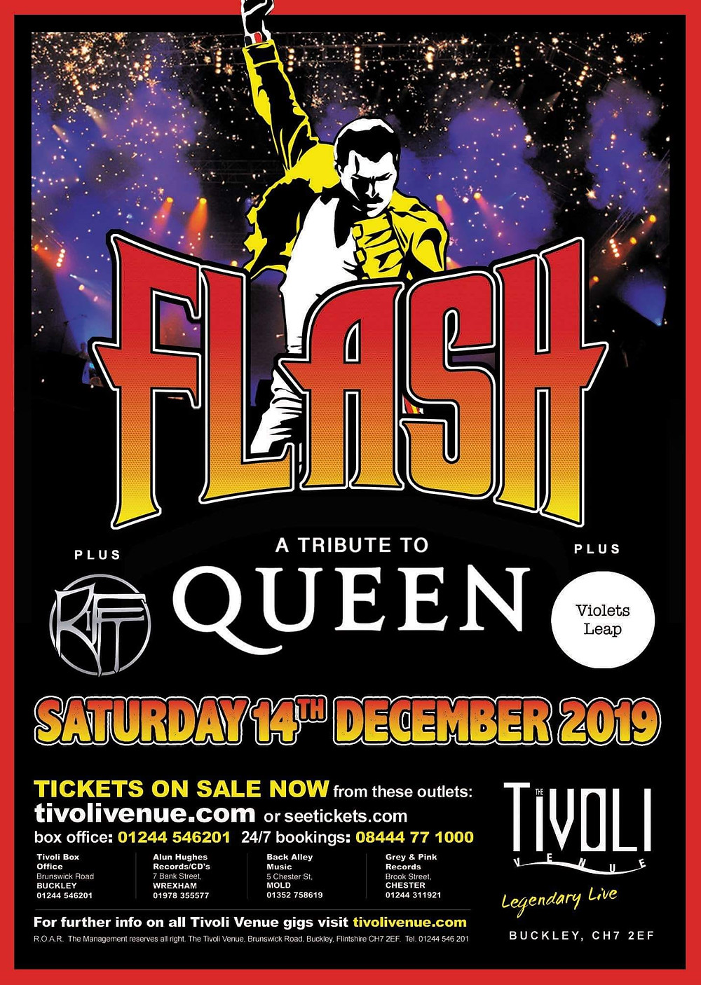Tivoli Buckley Flintshire Flash Queen Tribute Live