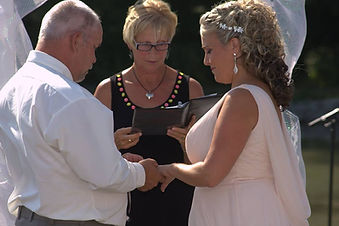Fay vandenbeukel,fay vandenbeukel officiant,cathy davis and company,niagra wedding officiant,niagra weddings,non-denominational weddings,backyard weddings