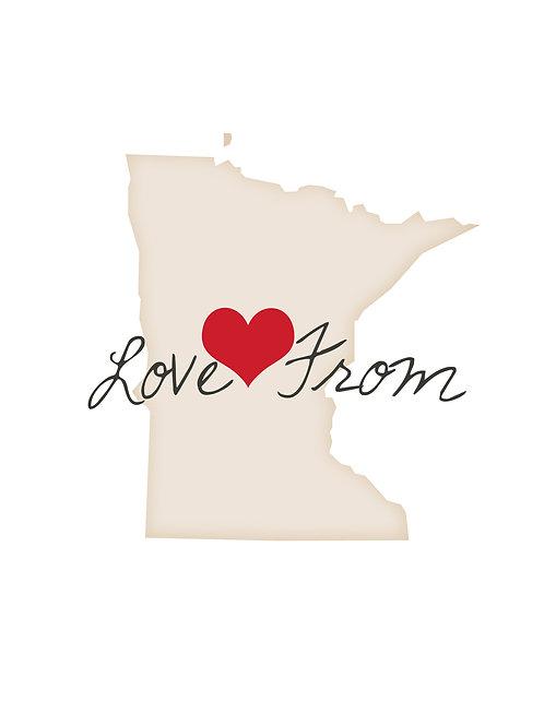 Love from Minnesota Notecard