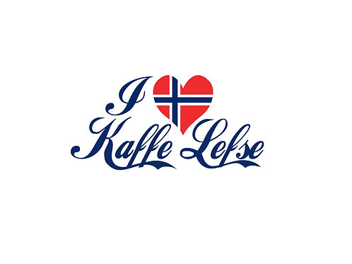 I Love Kaffe and Lefse 8x10 Print
