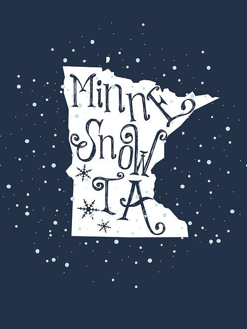 Minne-snow-ta Print 8x10